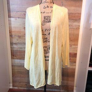 3/$25 Chico's Yellow Long Sleeve Thin Cardigan